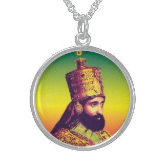 彼の帝国皇族皇帝Haile Selassie I スターリングシルバーネックレス