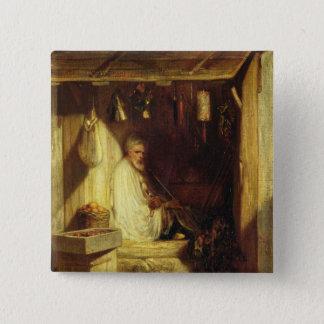 彼の店のトルコの商人の喫煙、1844年 5.1CM 正方形バッジ
