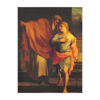 彼の息子、ヨセフを送っているヤコブ キャンバスプリント