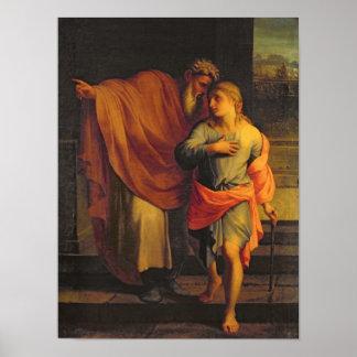 彼の息子、ヨセフを送っているヤコブ ポスター