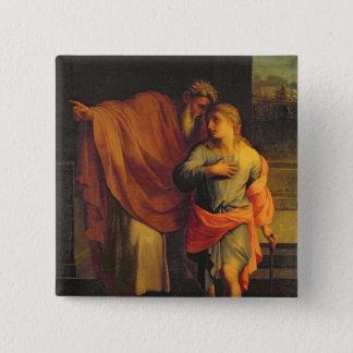 彼の息子、ヨセフを送っているヤコブ 5.1CM 正方形バッジ