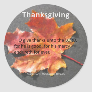 彼の慈悲のEndurethの感謝祭の賛美歌の107:1 ラウンドシール