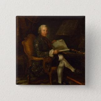 彼の机のアイザックEgmontフォンChasot、1750年 5.1cm 正方形バッジ