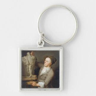 彼の模倣しているルイFrancois Roubiliac (1695-1762年) キーホルダー