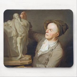 彼の模倣しているルイFrancois Roubiliac (1695-1762年) マウスパッド