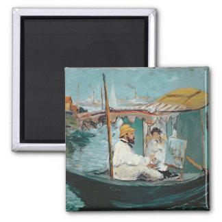 彼の浮遊スタジオのManet | Monet、1874年 マグネット