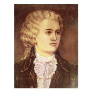 彼の滞在の間のヴォルフガング・アマデウス・モーツァルト ポストカード