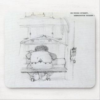 彼の織機のウィリアム・モリス、風刺漫画 マウスパッド