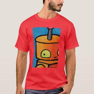 彼の肩に見るロボット Tシャツ