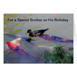 彼の誕生日の特別な兄弟のため カード