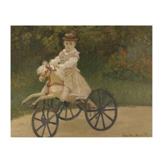 彼の趣味の馬のクロード・モネ-ジーンMonet ウッドウォールアート