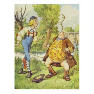 彼の鼻のウナギのバランスをとっているウィリアムの父となって下さい ポストカード
