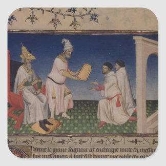 彼のgを与えている氏Fr 2810 f.3v Kublai Khan (1214-94年) スクエアシール