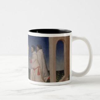 彼のgを与えている氏Fr 2810 f.3v Kublai Khan (1214-94年) ツートーンマグカップ