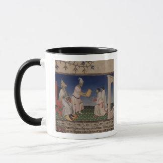 彼のgを与えている氏Fr 2810 f.3v Kublai Khan (1214-94年) マグカップ