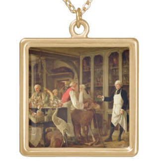彼のLaboraのルイジーンMarie Daubenton (1716-99年) ゴールドプレートネックレス