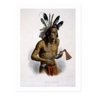 彼のWarlikの記章と飾られるMato-Tope ポストカード