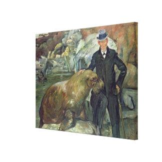 彼のZooのカールHagenbeck、1911年 キャンバスプリント