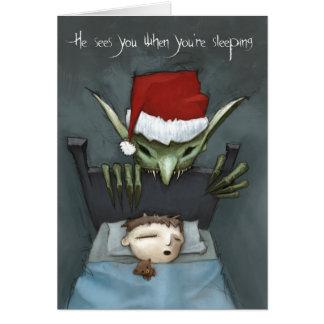 彼はあなたは眠るとき会います カード