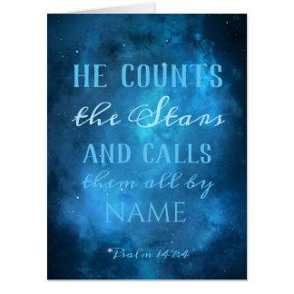 彼は宇宙の星を数えます カード