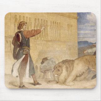 彼は彼が冗談を言っていたようにライオンを扱いました マウスパッド
