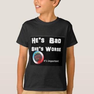 彼は悪いです彼女ですより悪い投票2016暗闇 Tシャツ