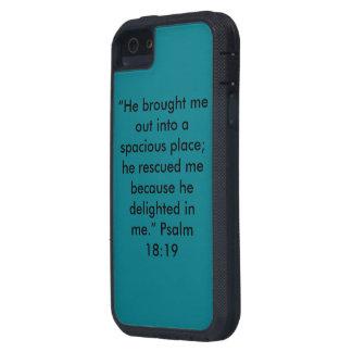 """""""彼は私で"""" Iphone 5/5SおよびSEの細胞の場合を喜ばせました iPhone SE/5/5s ケース"""