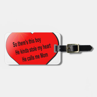 彼は私をお母さんと........電話します ラゲッジタグ