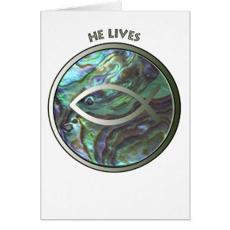 彼は魚Notecard住んでいます カード