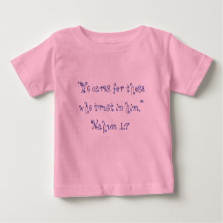 """""""彼は""""聖なる書物、経典のベビーか幼児のワイシャツを気にします ベビーTシャツ"""