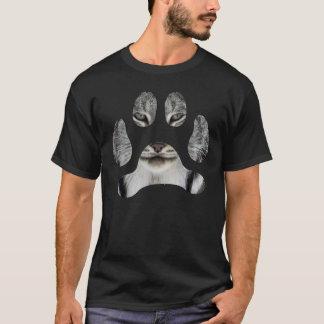 彼または彼女のためのカナダのオオヤマネコの足のティー Tシャツ