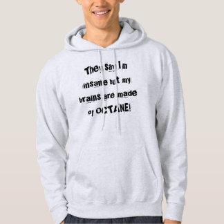 """""""彼らは私が異常しかし… """"Sledders.comのフード付きスウェットシャツであることを言います パーカ"""
