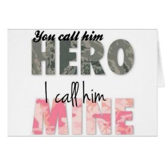 彼を私が彼を鉱山と電話する英雄と電話します カード