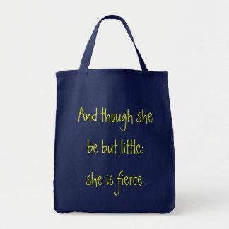 彼女がしかし少しあるけれども; 食料雑貨のトート トートバッグ