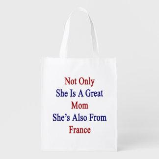 彼女だけ彼女によってがフランスからまたあるすばらしいお母さんです 買い物袋