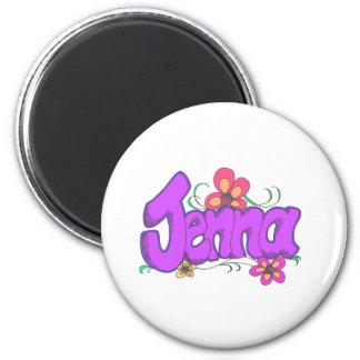 """彼女のために名前入りな""""jenna"""" マグネット"""
