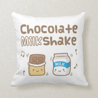 彼女のためのかわいいチョコレートミルクセーキの落書き クッション