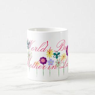 彼女のための世界で最も最高のな義母の明るい花 コーヒーマグカップ
