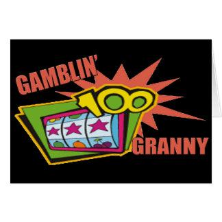 彼女のための賭博のおばあさんのTシャツそしてギフト カード