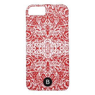 彼女のための赤く及び白くパターン(の模様が)あるな携帯電話の箱 iPhone 8/7ケース