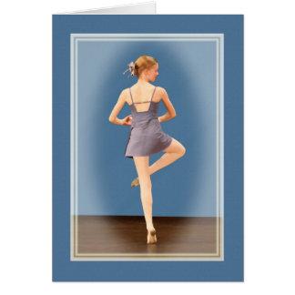 彼女のつま先のバレリーナ カード