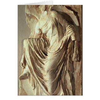 彼女のサンダル、c.420-420を紀元前に調節するアテーナーのナイキ カード