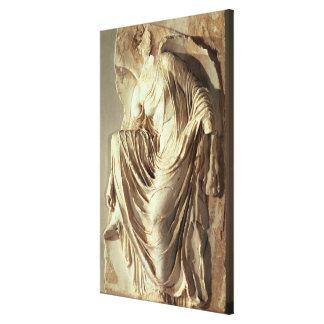 彼女のサンダル、c.420-420を紀元前に調節するアテーナーのナイキ キャンバスプリント