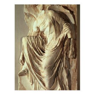 彼女のサンダル、c.420-420を紀元前に調節するアテーナーのナイキ ポストカード