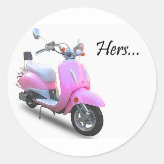 彼女のスクーター ラウンドシール