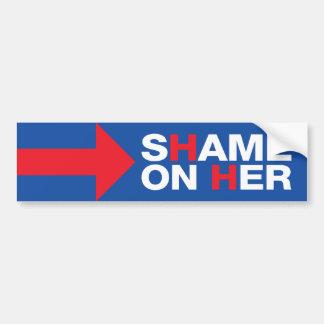 彼女のヒラリー・クリントンの反恥-切札2016年 バンパーステッカー