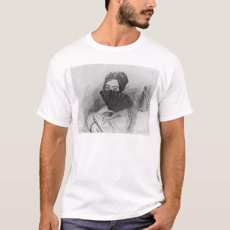 彼女のファンの後ろのジョルジュ・サンドのポートレート Tシャツ
