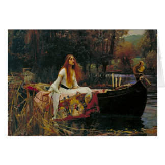 彼女のボートのShalottの女性 カード