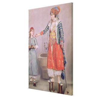 彼女の使用人を持つトルコの女性 キャンバスプリント