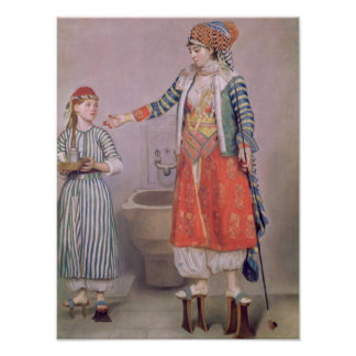 彼女の使用人を持つトルコの女性 ポスター